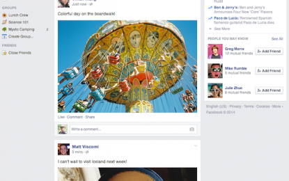 Kolejny lifting Facebooka…