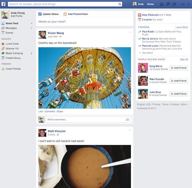 Nowa wersja Facebooka.