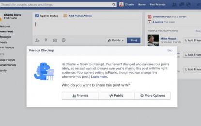 Facebook zachęca do zmian w ustawieniach prywatności
