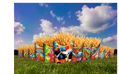 Piłkarskie frytki McDonald's w promowanych trendach